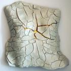 Body cast wall art - Porcelain,press mold, hand build,transparent glaze,lustre glaze, gold lustre, fired several times