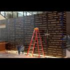 Bronze Patina perforated wall by Northwestern, Inc.
