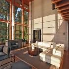 Transparent living space - with a view. Design by Gardner Mohr Architects LLC