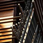 Architectural screen details in wood - Singapore home design by WOHA Architects