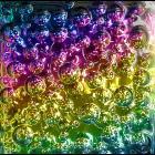 Bubbles in glass block