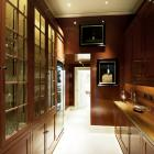 Antiqued and lacquered butler pantry - commissioned by Mark Gillette Interior design and photographed by Arthur Foster